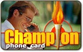 champion prepaid international phone card